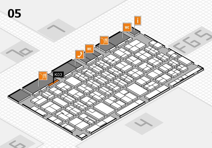 MEDICA 2016 hall map (Hall 5): stand K03