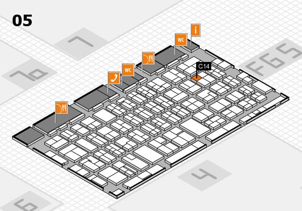 MEDICA 2016 hall map (Hall 5): stand C14