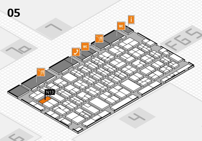 MEDICA 2016 hall map (Hall 5): stand N13