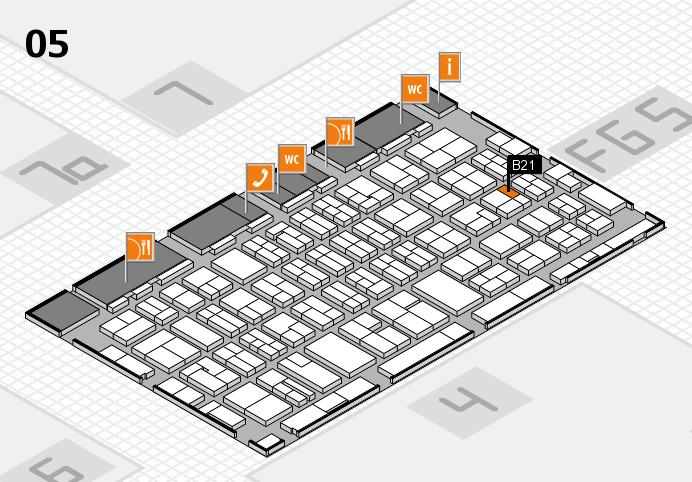 MEDICA 2016 hall map (Hall 5): stand B21