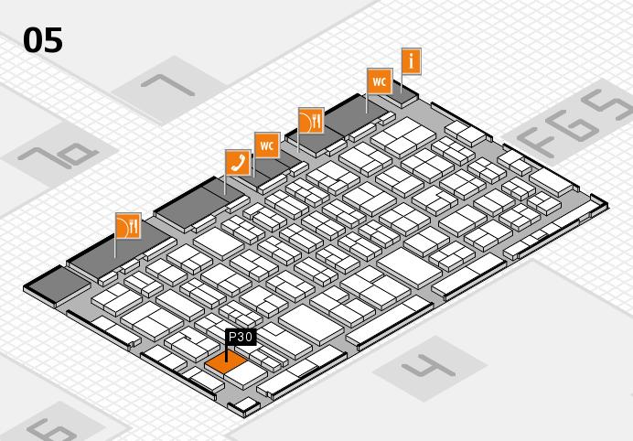 MEDICA 2016 hall map (Hall 5): stand P30