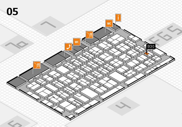 MEDICA 2016 hall map (Hall 5): stand B30