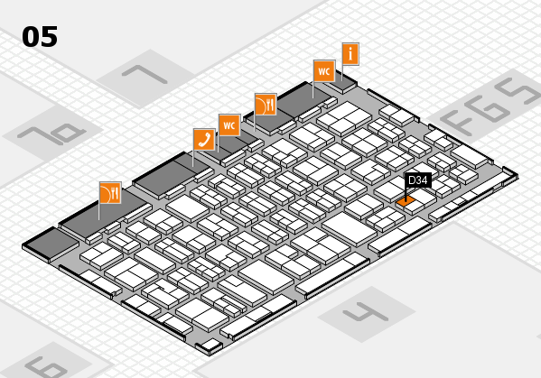 MEDICA 2016 hall map (Hall 5): stand D34