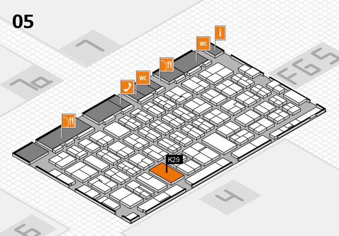 MEDICA 2016 hall map (Hall 5): stand K29