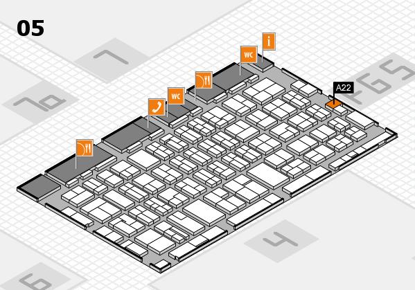 MEDICA 2016 hall map (Hall 5): stand A22