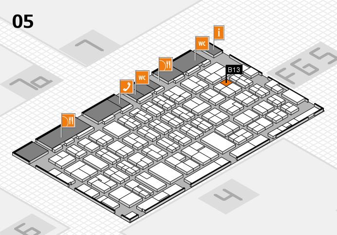 MEDICA 2016 hall map (Hall 5): stand B13