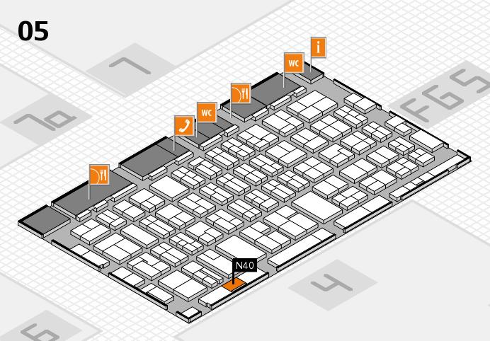 MEDICA 2016 hall map (Hall 5): stand N40