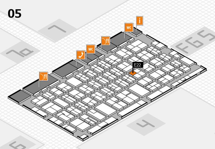 MEDICA 2016 hall map (Hall 5): stand E22