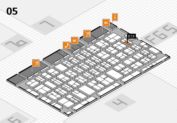 MEDICA 2016 hall map (Hall 5): stand B18