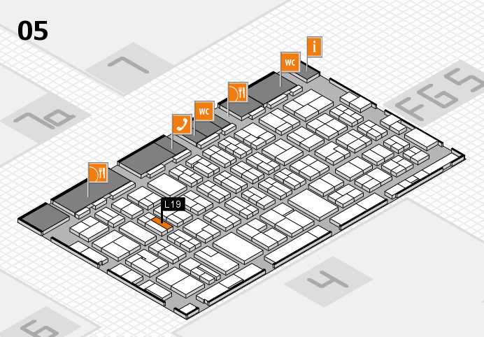 MEDICA 2016 hall map (Hall 5): stand L19