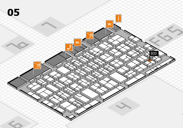 MEDICA 2016 hall map (Hall 5): stand B33