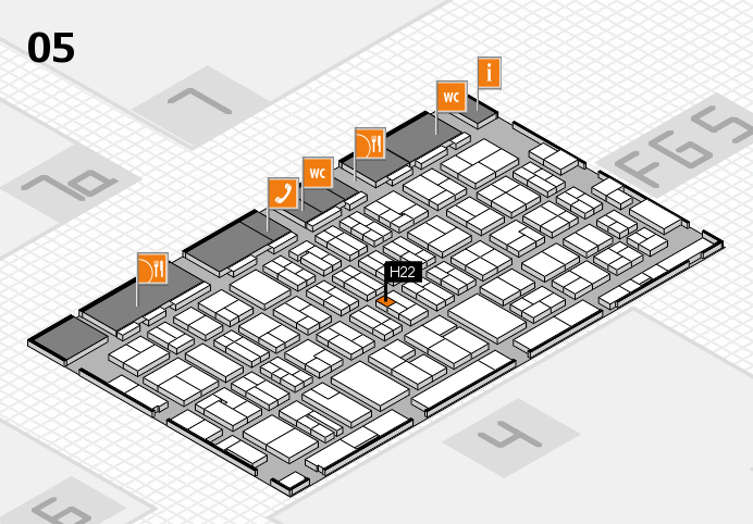 MEDICA 2016 hall map (Hall 5): stand H22