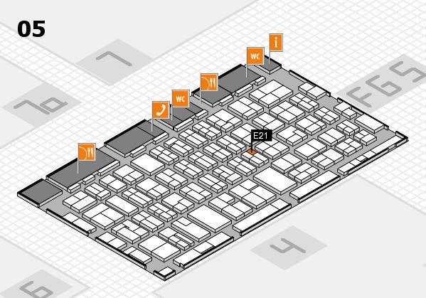MEDICA 2016 hall map (Hall 5): stand E21