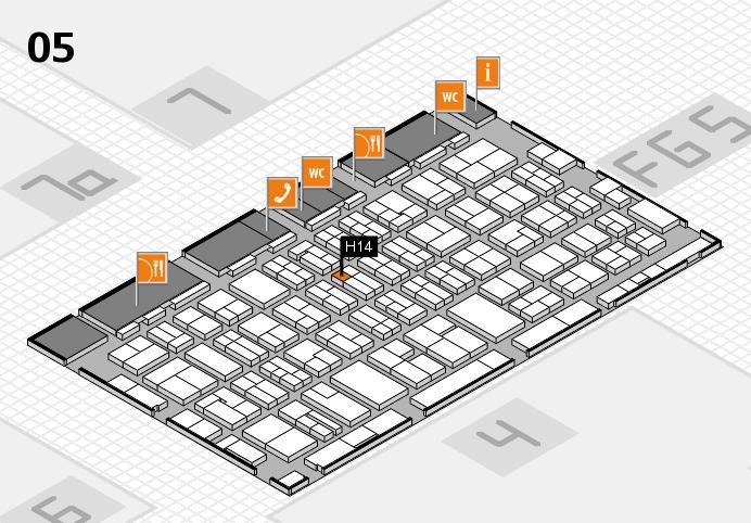 MEDICA 2016 hall map (Hall 5): stand H14