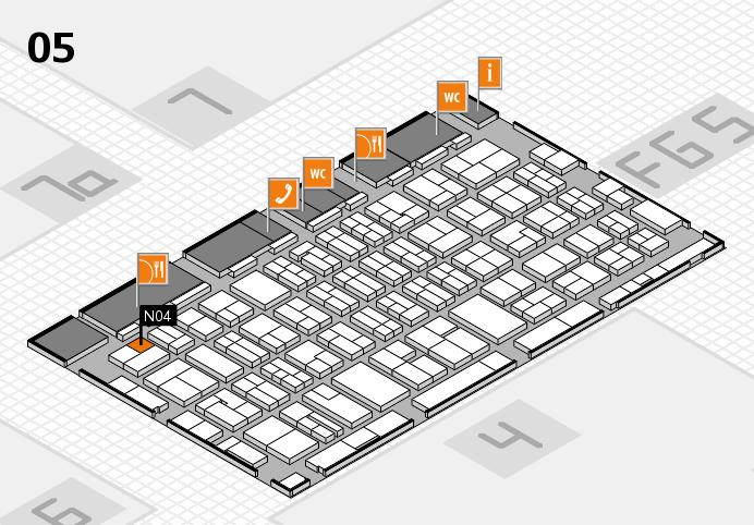 MEDICA 2016 hall map (Hall 5): stand N04