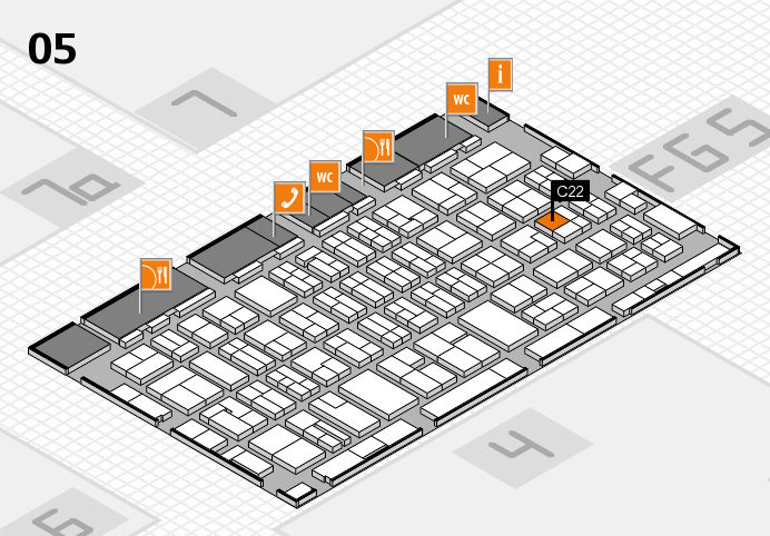 MEDICA 2016 hall map (Hall 5): stand C22