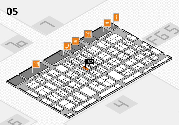MEDICA 2016 hall map (Hall 5): stand H20