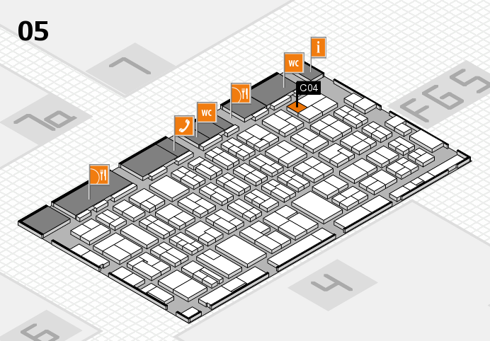 MEDICA 2016 hall map (Hall 5): stand C04