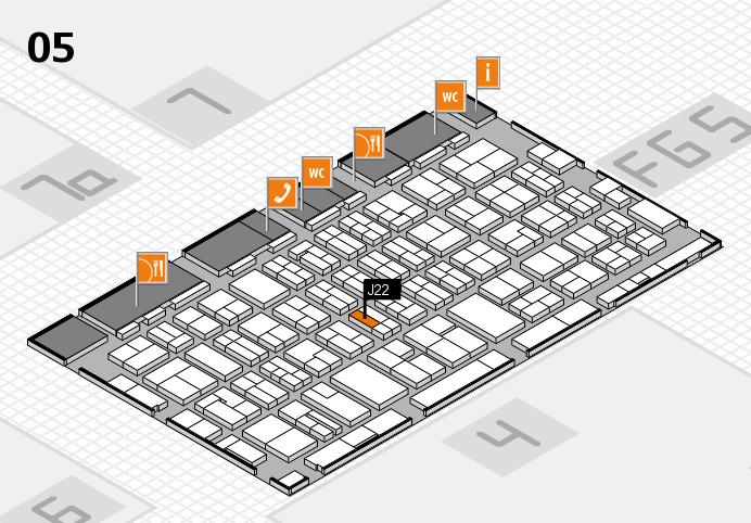 MEDICA 2016 hall map (Hall 5): stand J22