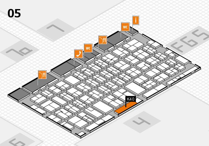 MEDICA 2016 hall map (Hall 5): stand K40