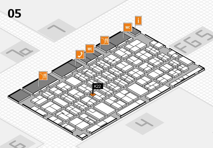 MEDICA 2016 hall map (Hall 5): stand K22