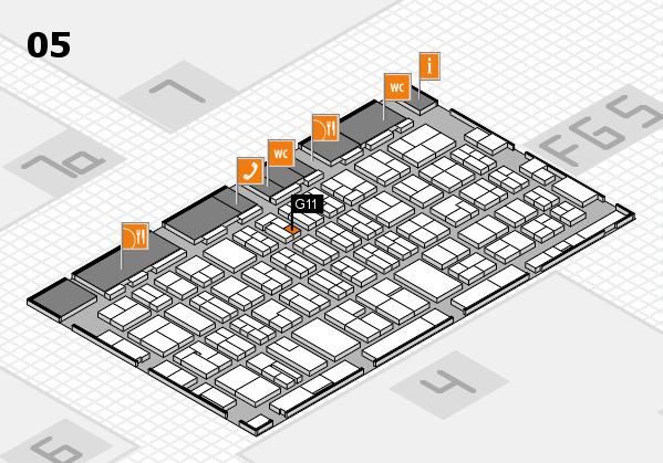 MEDICA 2016 hall map (Hall 5): stand G11