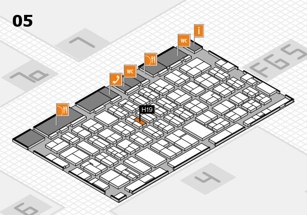 MEDICA 2016 hall map (Hall 5): stand H19