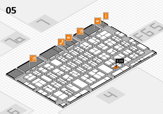MEDICA 2016 hall map (Hall 5): stand E38