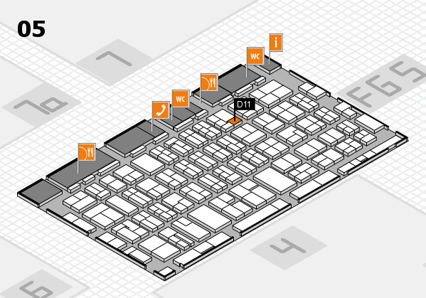 MEDICA 2016 hall map (Hall 5): stand D11