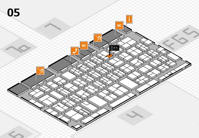 MEDICA 2016 hall map (Hall 5): stand D11