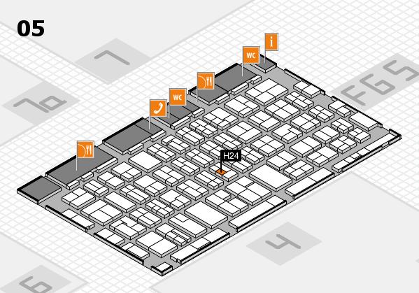 MEDICA 2016 hall map (Hall 5): stand H24