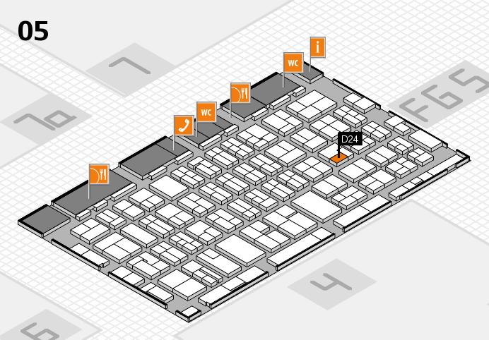 MEDICA 2016 hall map (Hall 5): stand D24
