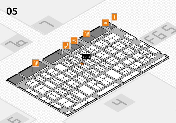 MEDICA 2016 hall map (Hall 5): stand G13