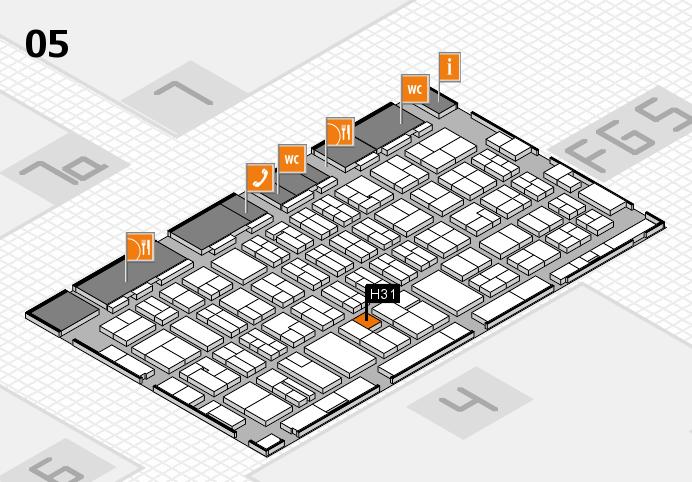 MEDICA 2016 hall map (Hall 5): stand H31