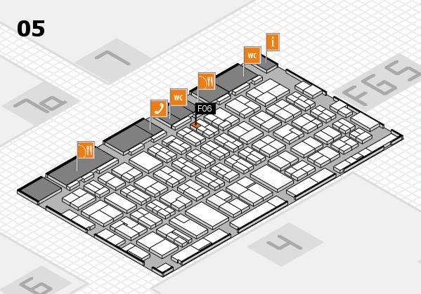 MEDICA 2016 hall map (Hall 5): stand F06