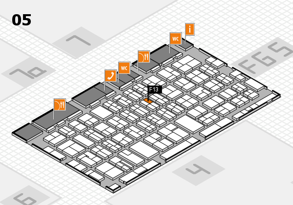 MEDICA 2016 hall map (Hall 5): stand F13
