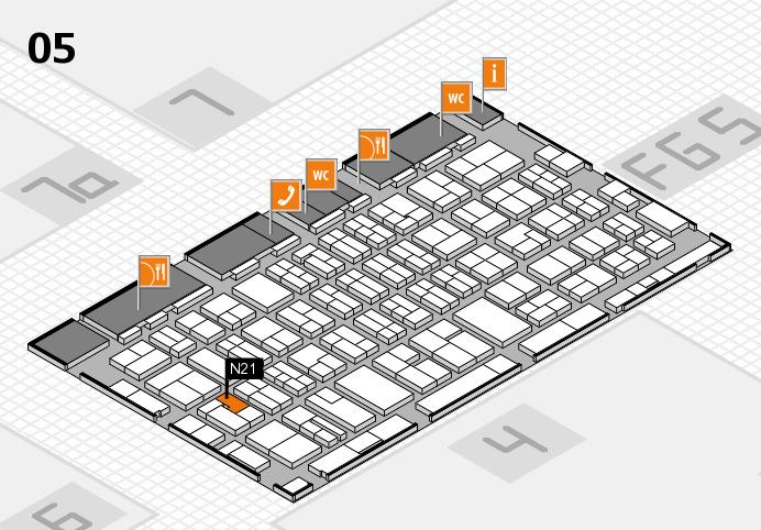 MEDICA 2016 hall map (Hall 5): stand N21