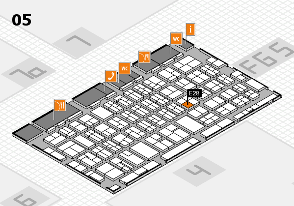 MEDICA 2016 hall map (Hall 5): stand E28