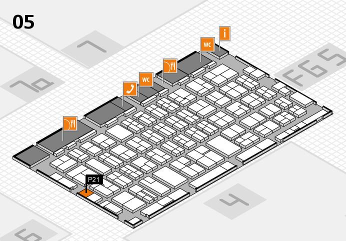 MEDICA 2016 hall map (Hall 5): stand P21