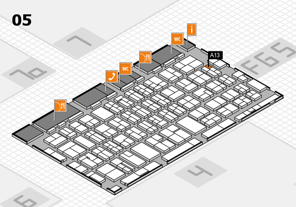 MEDICA 2016 hall map (Hall 5): stand A13