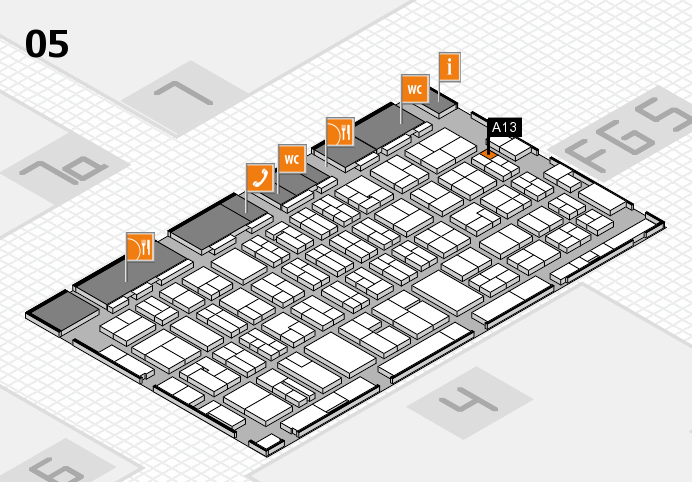 MEDICA 2016 hall map (Hall 5): stand A13