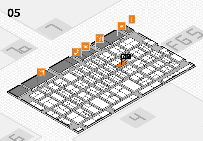 MEDICA 2016 hall map (Hall 5): stand D19