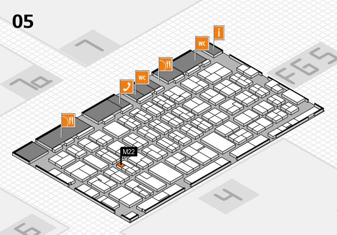 MEDICA 2016 hall map (Hall 5): stand M22