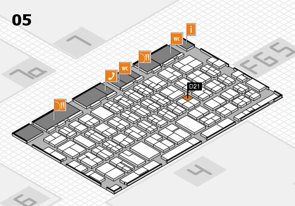 MEDICA 2016 hall map (Hall 5): stand D21