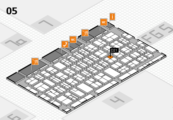 MEDICA 2016 hall map (Hall 5): stand D21