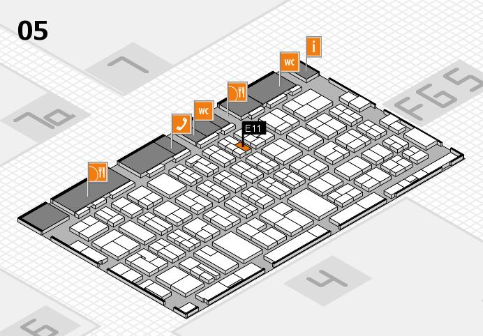 MEDICA 2016 hall map (Hall 5): stand E11