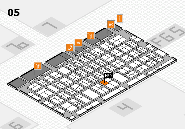 MEDICA 2016 hall map (Hall 5): stand H30