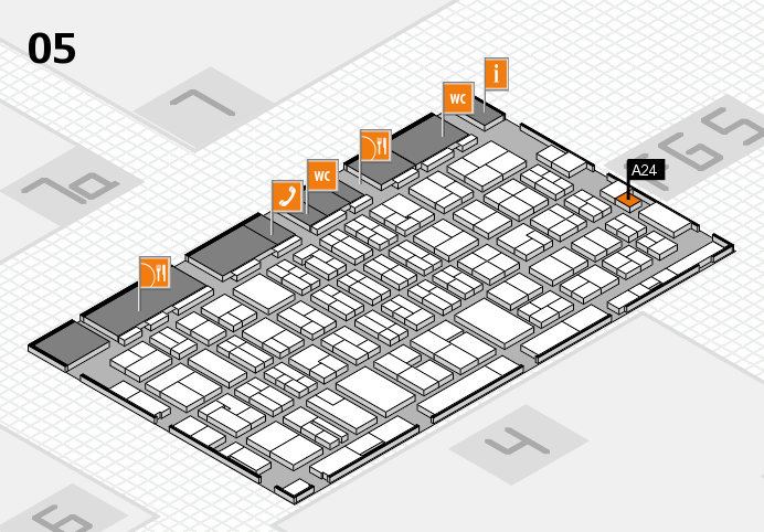 MEDICA 2016 hall map (Hall 5): stand A24