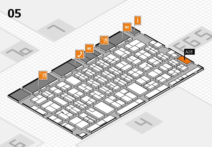 MEDICA 2016 hall map (Hall 5): stand A28