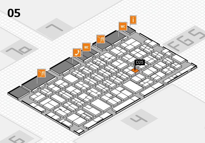 MEDICA 2016 hall map (Hall 5): stand D25